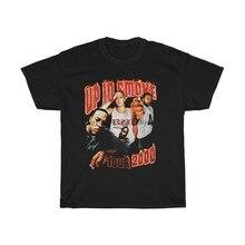 T-shirt en coton lourd unisexe, Vintage, Rap-Up dans la fumée, Tour 2000