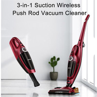ITTAR 3 In 1 Wireless Mini Push Rod Vacuum Cleaner With Handheld Dust Collector Multifunction Brush Household Cleaning Appliance