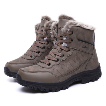 Men's Martin boots winter plus velvet warm cotton boots comfortable men's Martin boots casual high men's snow boots