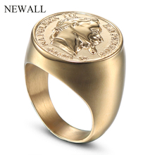 Newall горячая Распродажа нержавеющая сталь большой размер мужское Ювелирное кольцо в стиле панк высокое качество Фигурка Статуя кольцо модное мужское кольцо аксессуар