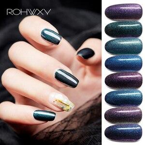 ROHWXY лак для ногтей Хамелеон 15 мл УФ-гель лак все для маникюра 8 цветов Гибридный гель-краска Сделай Сам лак для ногтей для длительного исполь...