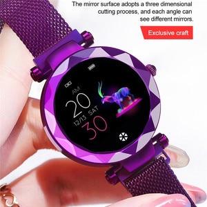 Image 2 - Lady HI18 Dress IP67 Waterproof Women Smart Bracelet Heart Rate Monitor Fitness Tracker Women Watch Wristwatch Band