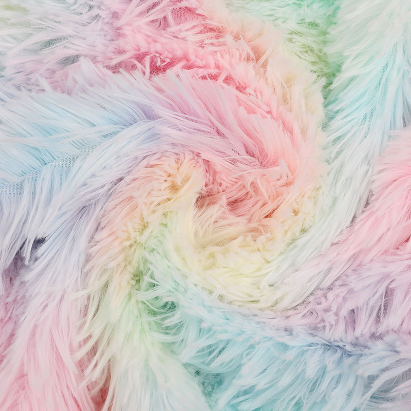 Toys Home Pet Supplies Rainbow Hair Pv Rong Cloth Fabric New Tie-dye Shanghai Colorful Plush Casual Modern Fuzzy Printing