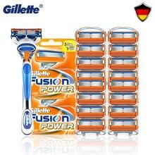 Fusion 5 Gillette – lames de rasoir pour hommes, originales, remplaçables, nouveau, 8 pièces