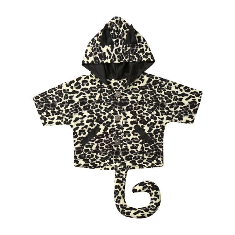 Baby Girl Autumn Winter Clothes Leopard Cosplay Party Costume Outwear Coat Toddler Girl Clothing Unisex Baby Coats Jackets