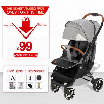 Darmowa wysyłka wózek dziecięcy ultralekki składany może siedzieć odpowiedni 4 sezony wysoki popyt i 8 prezentów najdroższy pro 2020 tanie i dobre opinie 2020 pro 0-3 M 4-6 M 7-9 M 13-18 M 19-24 M 2-3Y 18 kg 0 to 36 months