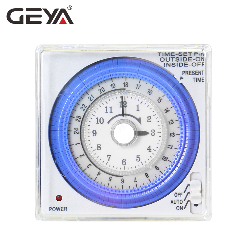 GEYA TB37 Mechanical Din Switch Timer 110V OR 220V 15 Minute Adjustable Timer Manual or Automatic Control in Timers from Tools