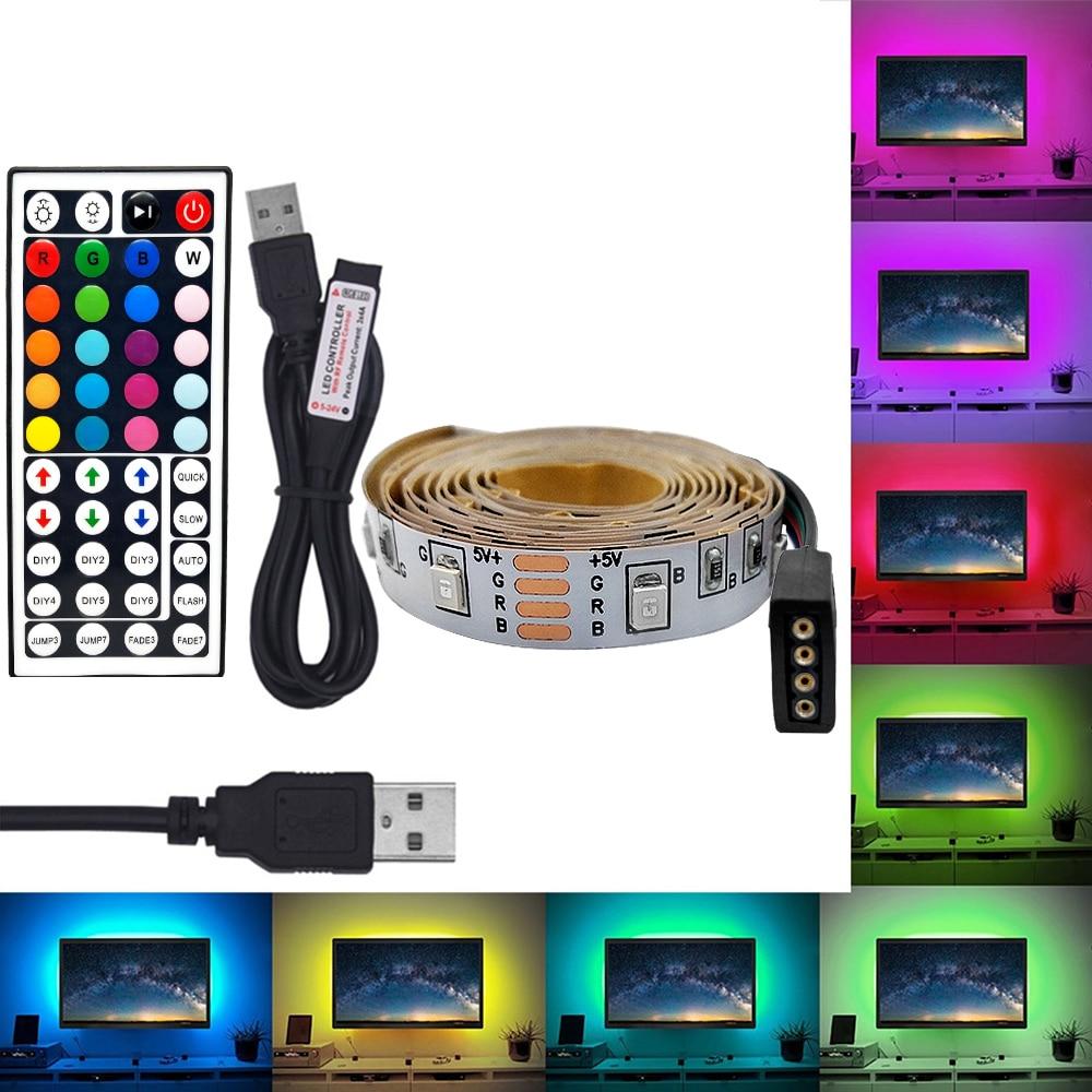0.5//1//2//3//4M USB 2835 LED SMD Strip Light TV Background Computer 5V Warm White
