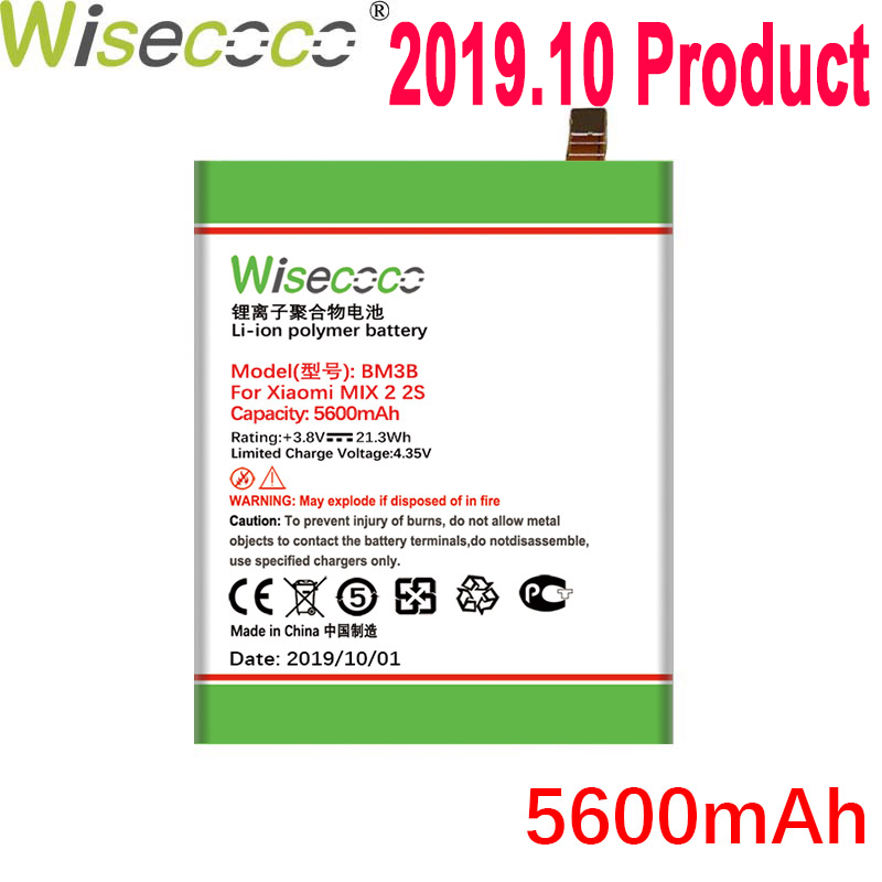 WISECOCO BM3B 5600mAh <font><b>Battery</b></font> For Xiaomi <font><b>Mi</b></font> <font><b>Mix</b></font> <font><b>2S</b></font> 2 S Mobile Phone Latest Production High Quality <font><b>Battery</b></font> With Tracking Code image