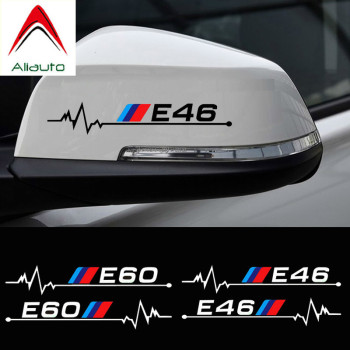 Aliauto 2 X Car Rearview Mirror Sticker & Decal Accessories for BMW E30 E34 E36 E39 E46 E60 E61 E87 E90 E83 F10 F20 F21 F30 F35 image
