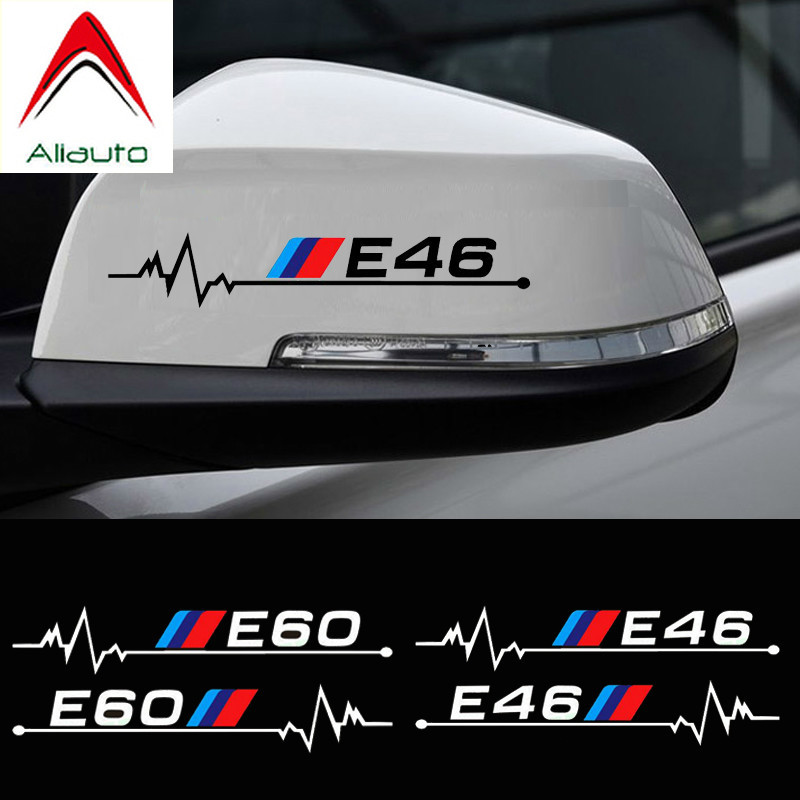 Aliauto 2 X Car Rearview Mirror <font><b>Sticker</b></font> & Decal Accessories for <font><b>BMW</b></font> E30 E34 E36 E39 E46 E60 E61 E87 E90 E83 F10 F20 <font><b>F21</b></font> F30 F35 image