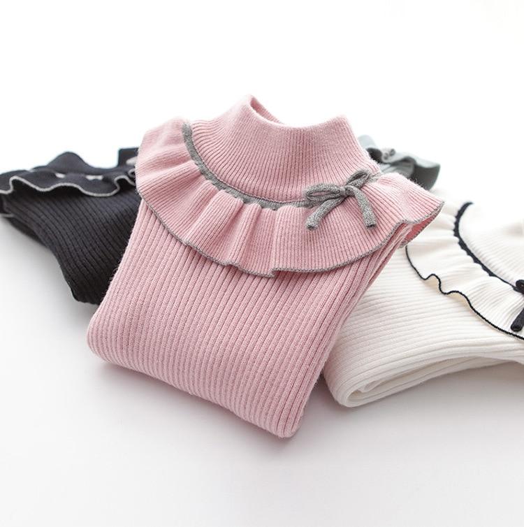2020 Fashion Spring Girls Sweaters Turtlrneck Girls Sweater 2-12 Years Children Clothing Sweaters