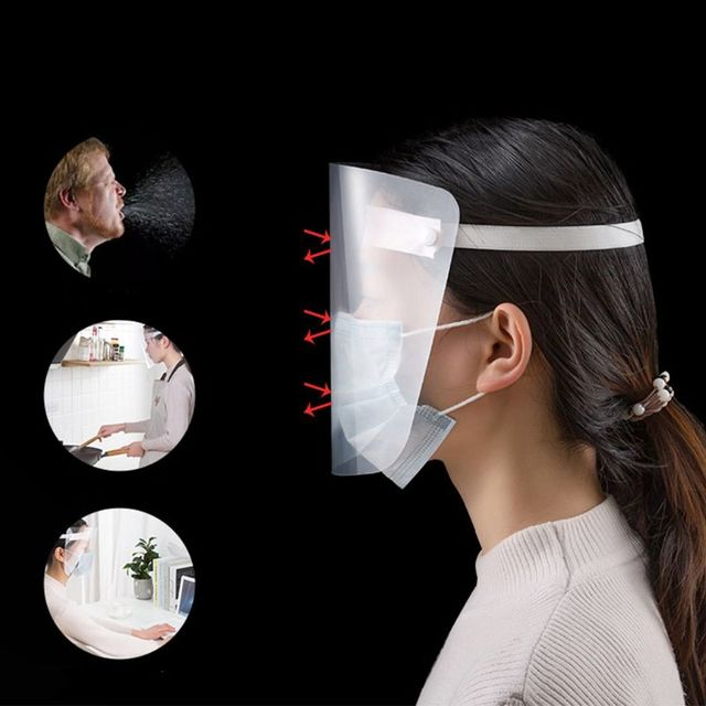 All-Purpose Face Shield Plastic Clear Anti-saliva Anti-spitting Protective Mask 634B 4
