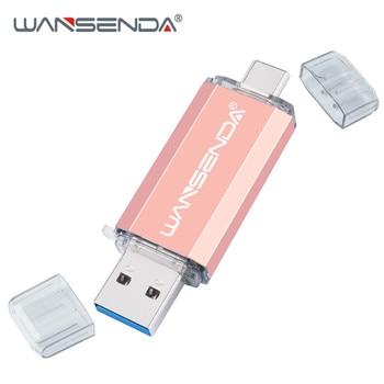 Hotsale WANSENDA OTG USB Flash Drive Type C Pen Drive 512GB 256GB 128GB 64GB 32GB 16GB USB Stick 3.0 Pendrive for Type-C Device 8