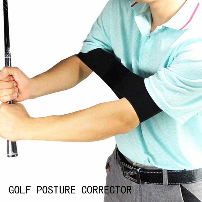 Durable Nylon Black Trainging Aids Golf Tool Arm Guard Corrective Alert Outdoor Sport Golf Correction Belt Swing Practice Stick