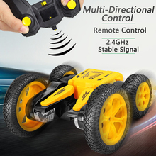 4WD RC Stunt Car 2.4Ghz High Speed Tumbling Crawler Vehicle 360 Degree Flips Double Sided Rotating