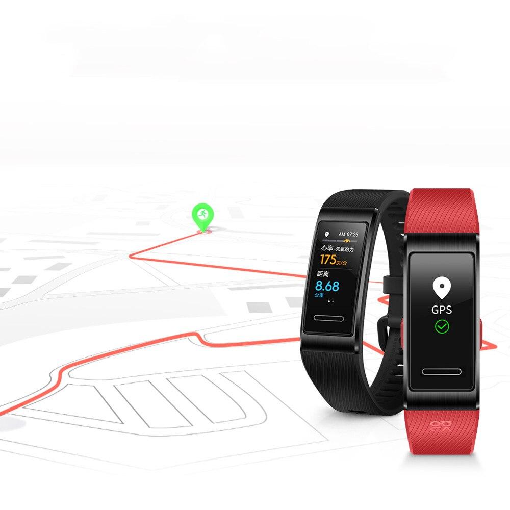 Image 5 - Original Huawei Band 4 Pro Smart Wristband Band Activity Heart  Rate Fintess Tracker GPS Monitor SpO2 Blood Oxygen Sport BraceletSmart  Wristbands