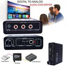 usb dac smsl HiFi Digital Optical Coaxial to TosLink Analog LR RCA 3 5mm Jack Audio