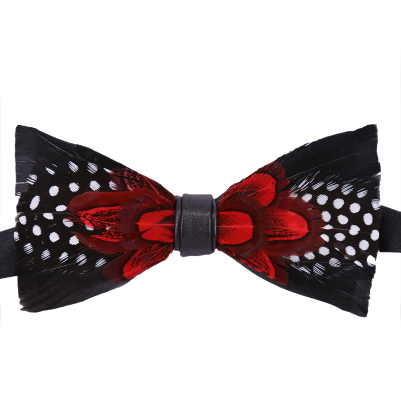 New Classic Feather Wedding Necktie Bow Ties Animal Design For Mens Wedding Suits Bow Tie Feather Bowknots Gravatas