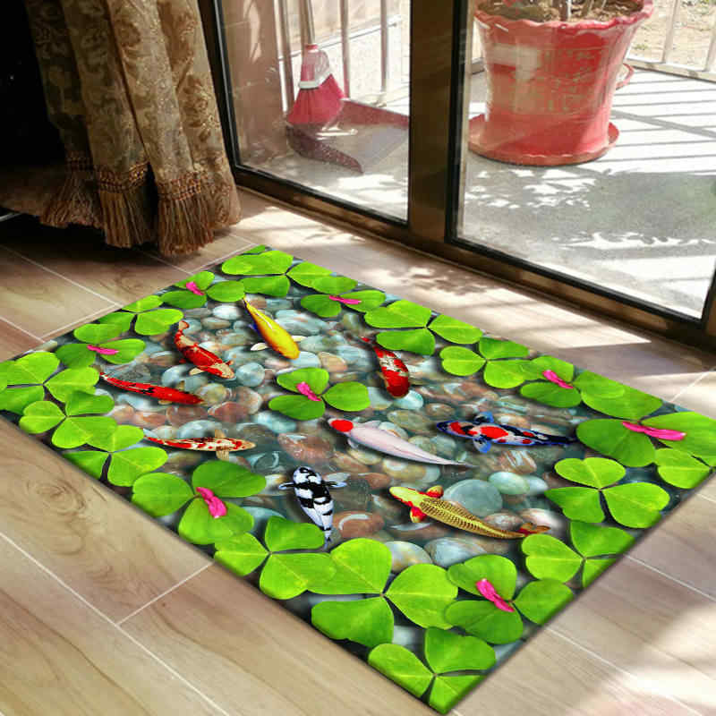3D Home Bedroom Carpet Slip Doormat Animal Door Mat Decorative Floor Area Rug