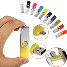 מותאם אישית לוגו 10 Pcs משלוח USB2.0 Usb דיסק און קי 32 gb OTG עבור החכם אנדרואיד טלפון/מחשב במהירות גבוהה Usb pendrive 16GB 8GB מתנה לחתונה