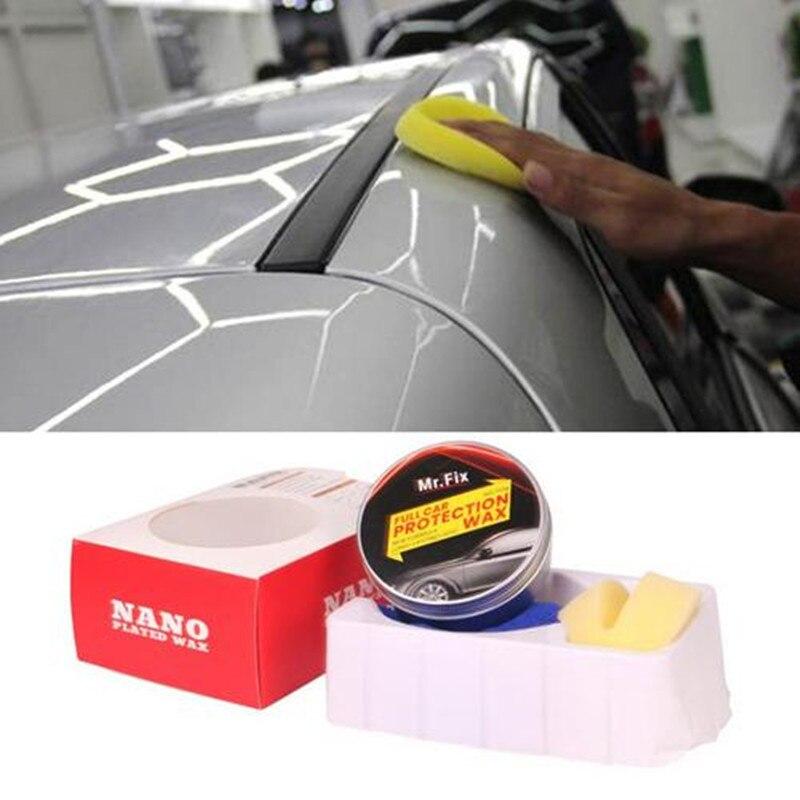 Premium Carnauba Car Wax Crystal Hard Wax Paint Care Scratch Repair Maintenance Wax Paint Surface Coating Free Sponge And Towel
