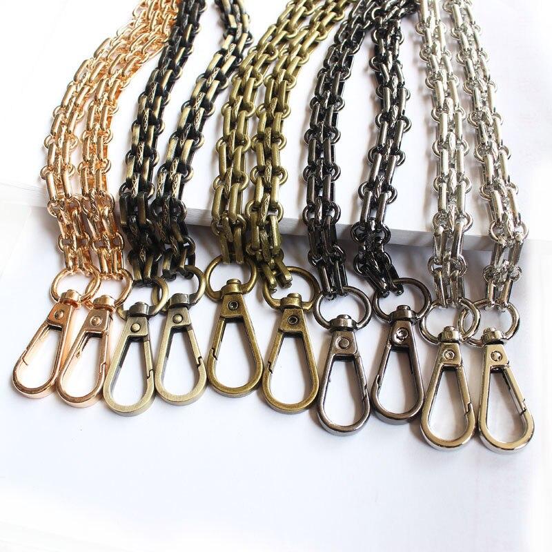 120cm Metal Chain Strap For Handbag Handle DIY Purse Replacement For Shoulder Bag Straps Silver Chain Belt For Bag Accessories