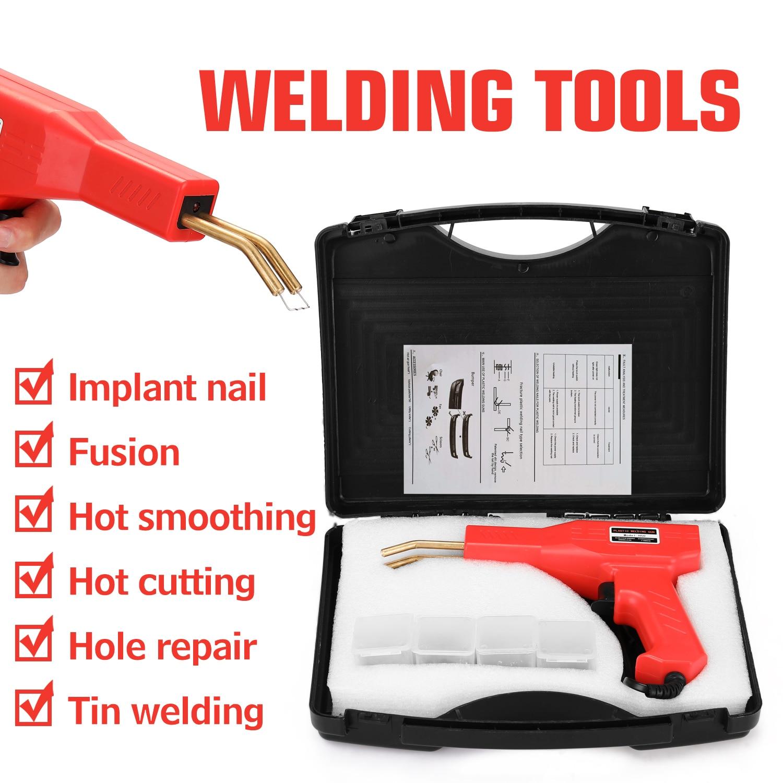 home improvement : Handy Plastics Welders Garage Tools Hot Staplers Machine Staple PVC Repairing Machine Car Bumper Repairing Stapler Welding Tool