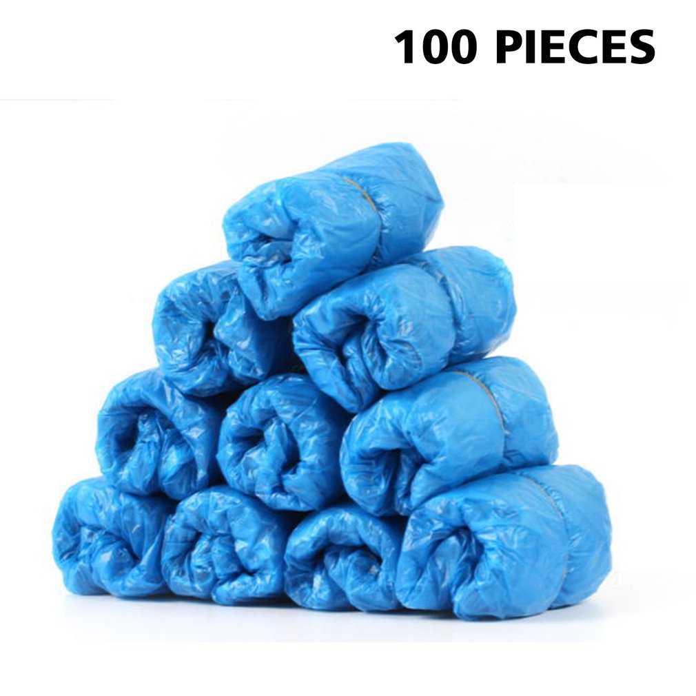 100 Pcs/bag Disposable Shoe Cover Wear-resistant And Load-bearing Strong Toughness Strong Tensile Force Tough