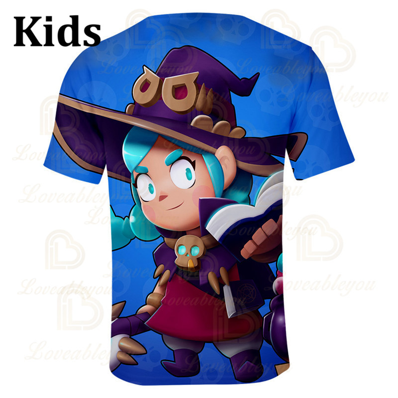 VOID GENE Leon Star Children's Wear Kids T-shirt Shooting Game 3d Shirt Gameing Boys Girls Short Tops Tshirt Teen Clothes  - buy with discount