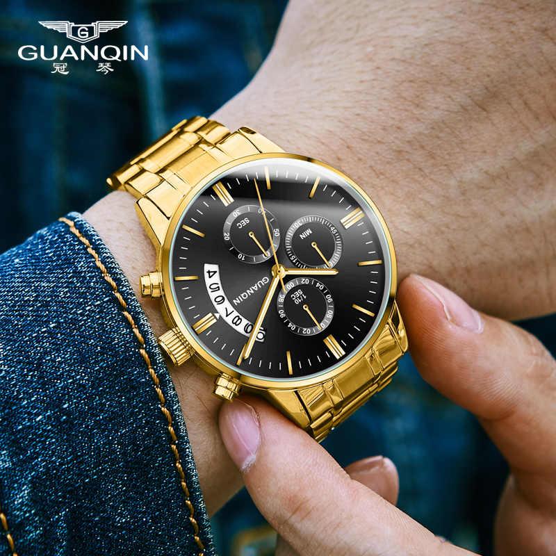 Guanqin Relogio Masculino Heren Horloges Luxe Famous Top Merk Heren Fashion Casual Dress Horloge Militaire Quartz Horloges Saat