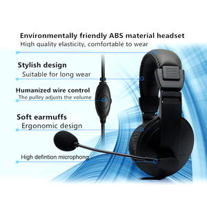 Image 4 - 3.5mm Wired מחשב משחקי סטריאו אוזניות משחק אוזניות אוזניות עם מיקרופון עבור מחשב סקייפ MSN PS4 לשחק תחנת 4