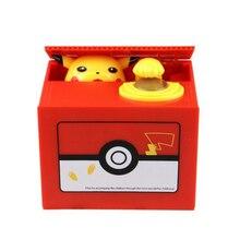 Милый покемон Авто украсть монета копилка электронная пластиковая Копилка для денег копилка для детей подарок на день рождения