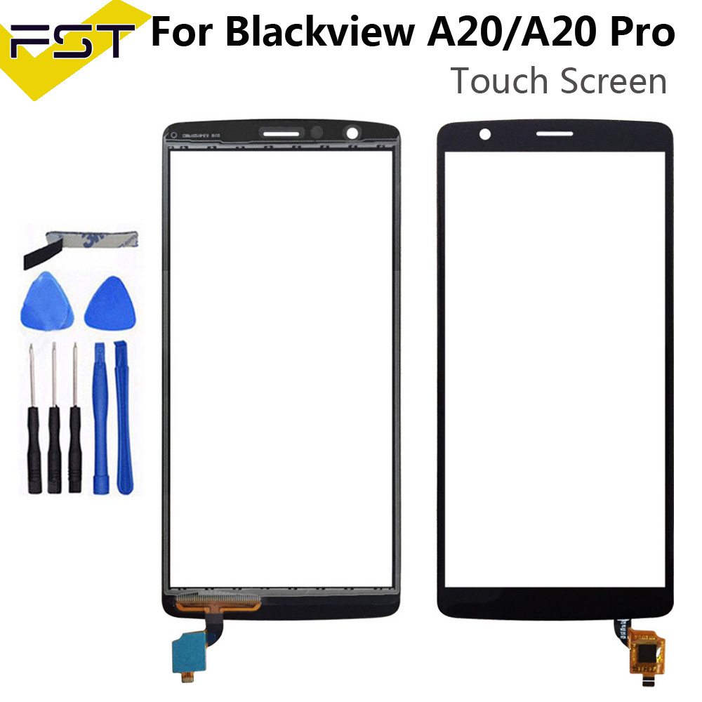 Black Touch Panel For Blackview A20 / A20 Pro Touch Screen Digitizer Lens Replacement Parts+Tools