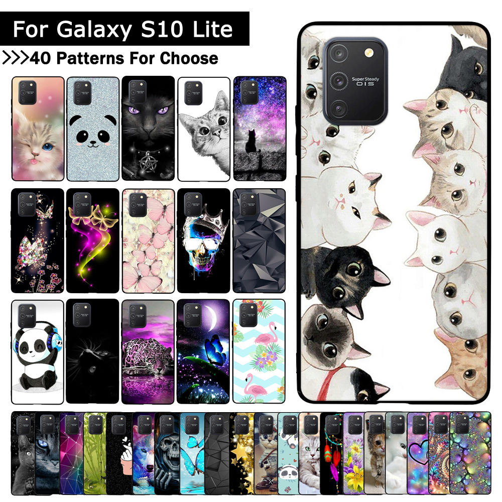 Lovely Cartoon Cat Cover For Samsung Galaxy S10 Lite Case Painted Slim Soft Couples Case For Samsung Galaxy A91 Capa