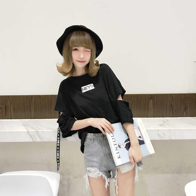 Kadın o-boyun yaz üst bayan rahat bol tişört kadın Harajuku üstleri kadın t-shirt öğrencileri kore tarzı yeni moda kız