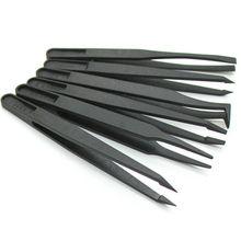 8 шт. антистатические углеродное волокно электронный Пинцет Комплект ESD пластиковые щипцы PCB ремонт ручные инструменты набор