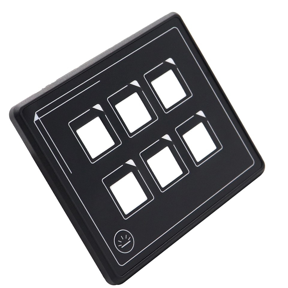Universal Vehicle 6P LED Touch Membrane Control Panel Switch Electronic