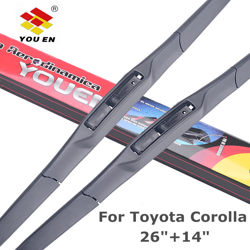 YOUEN Auto Car Windshield Wiper Blade For <font><b>Toyota</b></font> <font><b>Corolla</b></font> 2007 2008 2009 2010 <font><b>2011</b></font> 2012 <font><b>2013</b></font> 2014 26