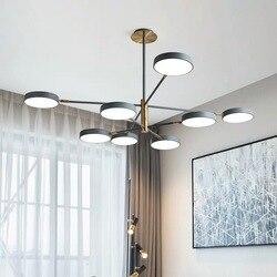 Europa północna A salon żyrandol postmodernistyczne kutego żelaza światła luksusowe zwięzłe Ins gospodarstwa domowego restauracja salon w Wiszące lampki od Lampy i oświetlenie na