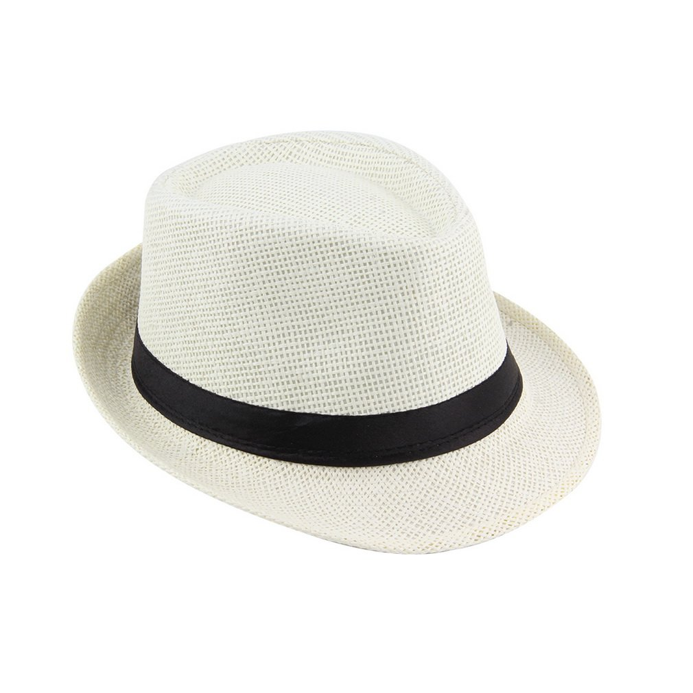 Muticolor Summer Bucket Hat Men Women Straw Hat Beach Sunhat Fedora Trilby Straw Panama <font><b>Gangster</b></font> Caps Fit For Outdoor Traveling image