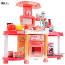 Toys Pretend-Play Kitchen Kids Children with Cooking Food-Sets Vegetables-Fruits