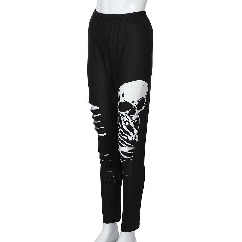Halloween Leggings Sport Women Fitness Horror Shredding Skull High Waist Gym Leggings Women Pants Plus Size Athletic Leggings#20
