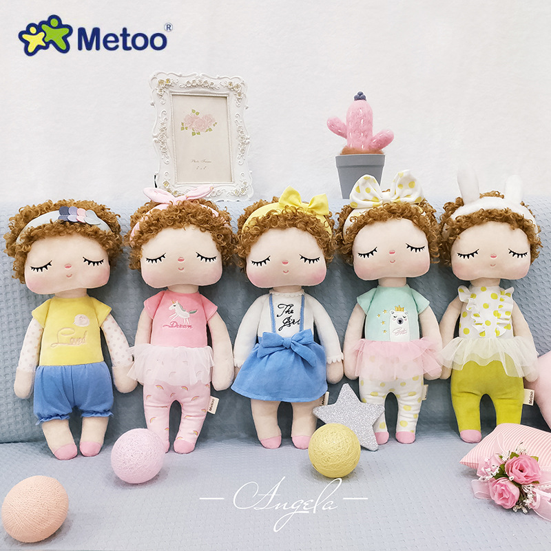 Original Metoo Doll Stuffed Toys For Girls Baby Curly Hair Beautiful Angela Cute Rabbit Soft Plush Animals For Kids Infants