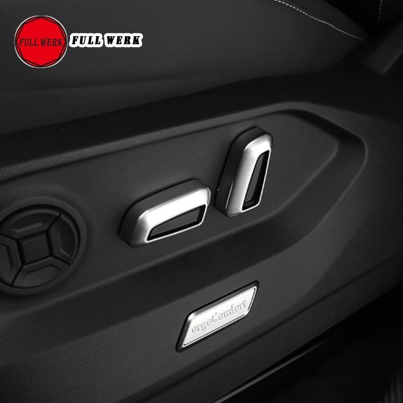 ABS mate interior asiento de coche bot/ón de ajuste cover Trim 4/piezas para