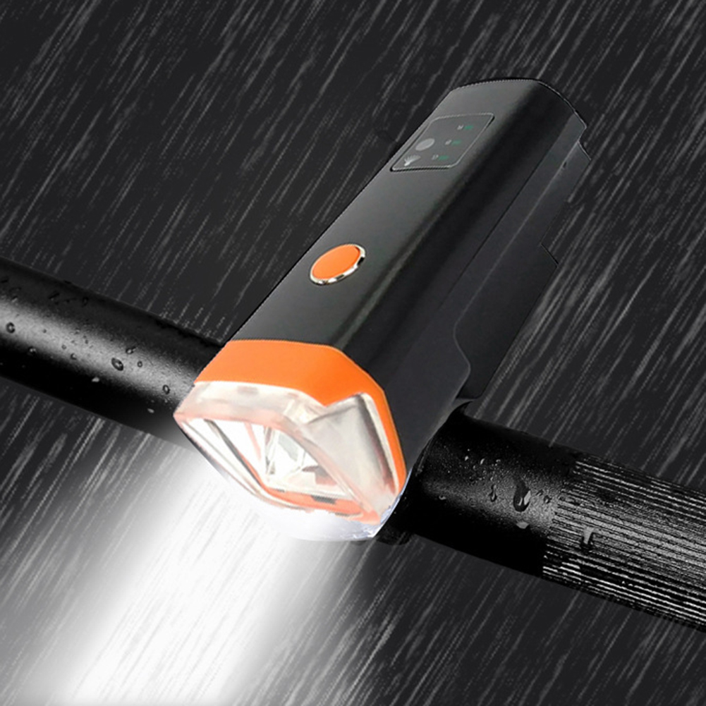 Waterproof 350 Lumen Flashlight For Bicycle Smart Induction Headlight Bike Cycling Front Lamp Usb Rechargeable Torch