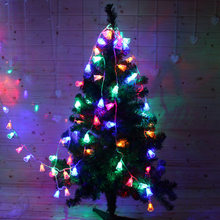 1.2 m/2.5 m/5 m LED Light String Christmas Bell Fairy Lights Outdoor Batterij Guirlande Kerstboom decoratie Party Wedding xmas(China)