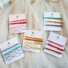 4pcs/lot Big Small Imitation Pearl Beads Hair Clips Hairpins For Women Fashion Jewelry Simple Barrettes Wholesale