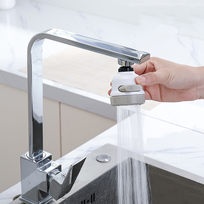 Water Filter New Rotatable Bathroom Kitchen Accessories Water Saver 3 Modes Water Tap Filter Faucet Extender Extenders Booster