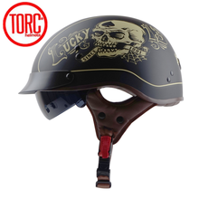 TORC T55 Vintage Motorcycle Helmet Retro Half Helmet With In